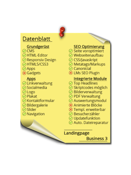 LMs CMS Landingpage Business 3 - Datenblatt