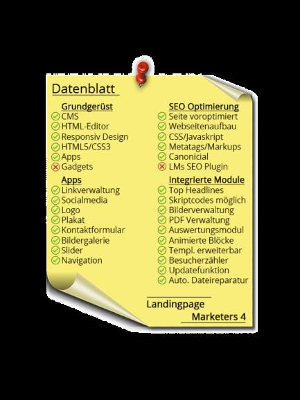 LMs CMS Landingpage Marketers 4 - Datenblatt