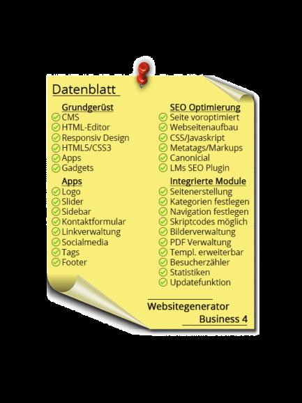 LMs CMS Websitegenerator Business 4 - Datenblatt
