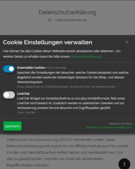 Cookie Consent Plugin für Webseiten